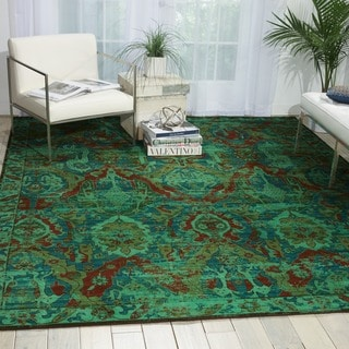 Nourison Timeless Turquoise Rug (8'6 x 11'6)
