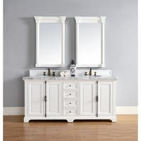 "Providence 72"" Double Vanity Cabinet, Cottage White"