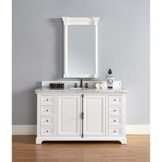 Providence Cottage White 60-inch Single Vanity Cabinet