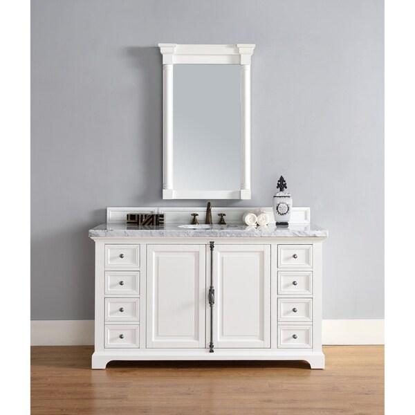 "Providence 60"" Single Vanity Cabinet, Cottage White"