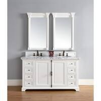 "Providence 60"" Double Vanity Cabinet, Cottage White"
