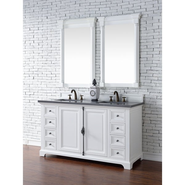 kitchen cabinet freestanding shop providence 60 quot vanity cabinet cottage white 2514