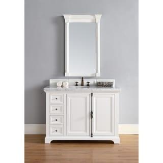 Providence 48-Inch Cottage White Oak/Wood/Veneer Single Vanity Cabinet