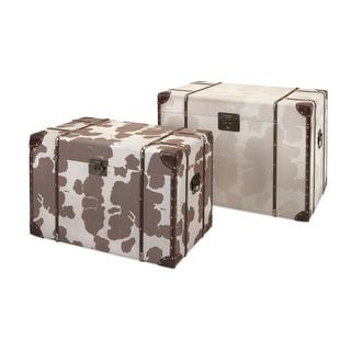 Trisha Yearwood Cowboy Storage Trunks - Set of 2