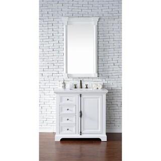 "Providence 36"" Single Vanity Cabinet, Cottage White"