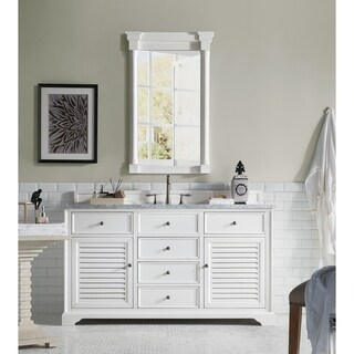 Savannah Cottage White 60-inch Single Vanity Cabinet