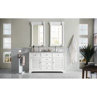 Savannah 60-inch Double Vanity Cabinet, Cottage White