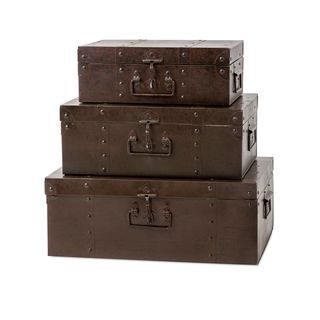 Trisha Yearwood Persimmon Metal Trunks - Set of 3