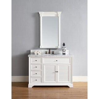 "Savannah 48"" Single Vanity Cabinet, Cottage White"