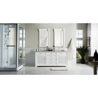 Savannah 72-inch Double Vanity Cabinet, Cottage White