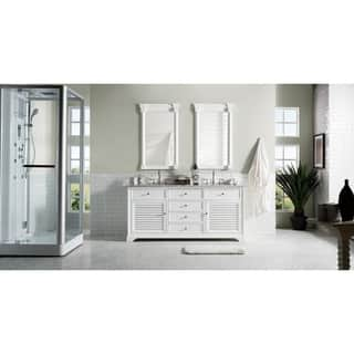 Savannah 72 Inch Double Vanity Cabinet Cottage White