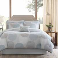 Madison Park Essentials Covina Aqua Complete Comforter and Cotton Sheet Set