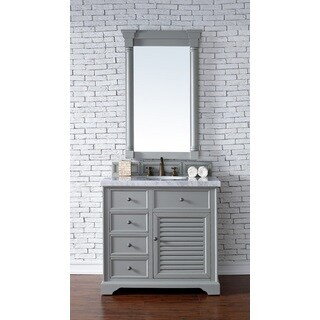 Savannah Urban Grey Wood/Veneer/Oak 36-inch Single Vanity Cabinet