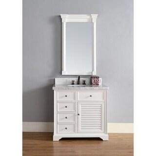 "Savannah 36"" Single Vanity Cabinet, Cottage White"
