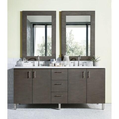 "Metropolitan 72"" Double Vanity, Silver Oak"