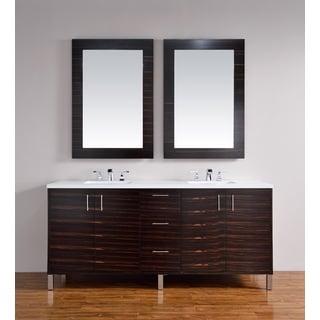 James Martin Furniture Metropolitan Macassar Ebony Hardwood and Veneer 72-inch Double Vanity