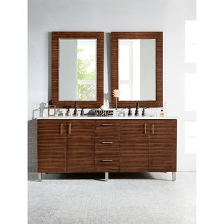"Metropolitan 72"" Double Vanity, American Walnut (5 options available)"
