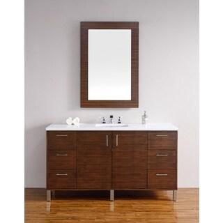 Metropolitan American Walnut 60-inch Single Vanity