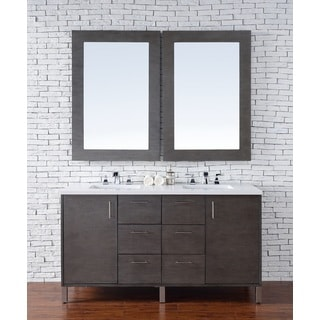 Metropolitan Silver Oak/Quartz 60-inch Double Vanity