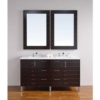 Metropolitan Macassar Ebony 60-inch Double Vanity