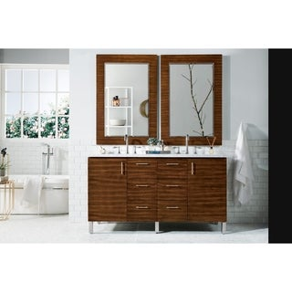 Metropolitan American Walnut 60-inch Double Vanity