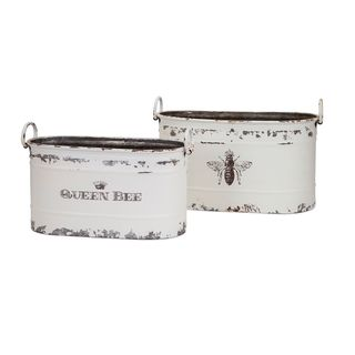 Trisha Yearwood Queen Bee Tubs - Set of 2