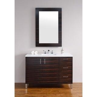 Metropolitan Macassar Ebony 48-inch Single Vanity