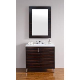 Metropolitan 36-inch Macassar Ebony Single Vanity
