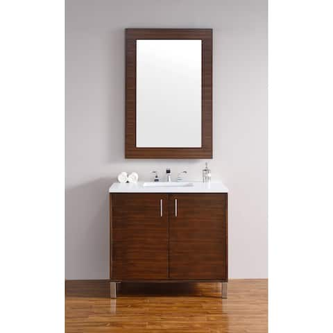 "Metropolitan 36"" Single Vanity, American Walnut"