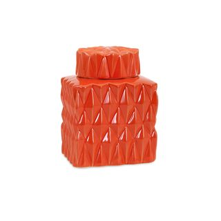 Trisha Yearwood Persimmon Short Lidded Container
