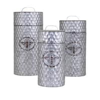 Trisha Yearwood Honey Bee Galvanized Canisters - Set of 3