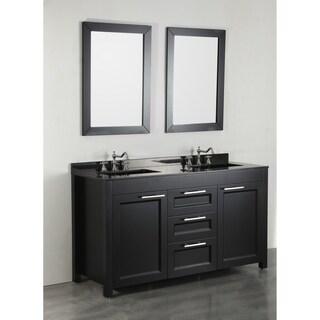 Bosconi SB 267BBG 60 inch Double Vanity with Mirrors. Size Double Vanities Wall Mirror Bathroom Vanities  amp  Vanity