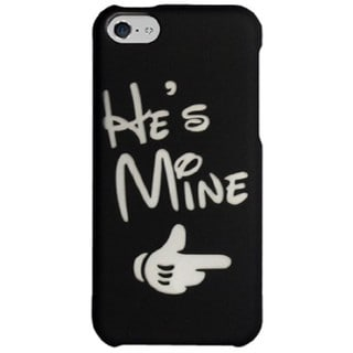 Zizo 'He's Mine' Black Rubberized Protective Cover Case for iPhone 5C