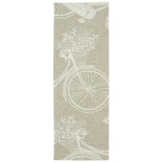 Indoor/Outdoor Beachcomber Bicycle Light Brown Rug (2'0 x 6'0)