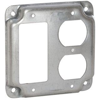 "Raco 915C 4"" (2) Device Square Crushed Corner Cover"