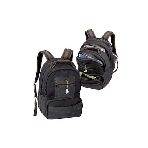 Goodhope Black Canvas Laptop Backpack