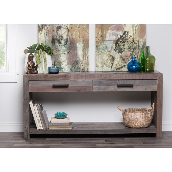 Oscar Grey Reclaimed Wood Console Table by Kosas Home. Oscar Grey Reclaimed Wood Console Table by Kosas Home   Free