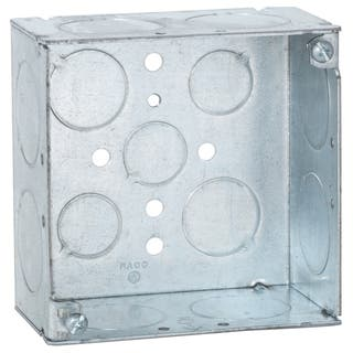"""Raco 8233 4"""" Square Box Welded With Conduit KO's