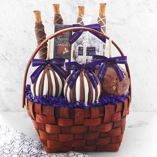 Easter gift baskets for less overstock classic signature caramel apple basket negle Image collections