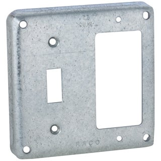 "Raco 814C 4"" Square Extra-Capacity Non-Crushed Corner Cover"