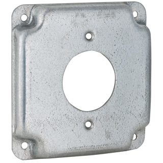 "Raco 812C 4"" Square Crushed Corner Exposed Work Cover"