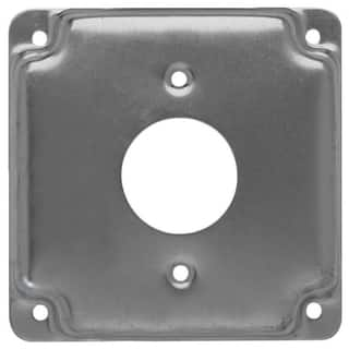 Raco Square Steel Electrical Cover For 1 Receptacle Gray|https://ak1.ostkcdn.com/images/products/11819564/P18725580.jpg?impolicy=medium