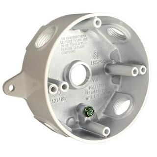 """Raco 5361-1 4"""" White Die Cast Aluminum Round Splice Box"""