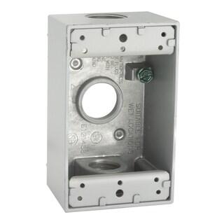 "Raco 5324-1 4-1/2"" X 2-3/4"" Die Cast Aluminum Single Gang Box"
