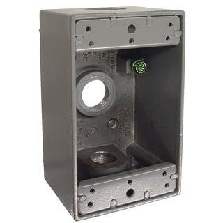 "Raco 5320-1 4-1/2"" X 2-3/4"" Die Cast Aluminum Single Gang Box"