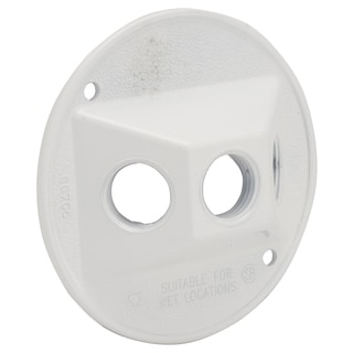 "Raco 5197-1 4"" Round White Die Cast Cluster Cover"