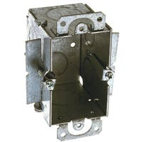 Raco  4-1/4 in. H Rectangle  1 Gang  Outlet Box  1/2 in. Gray  Steel