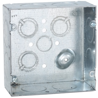 """Raco 258SM 4-11/16"""" Square Raised Ground Box"""