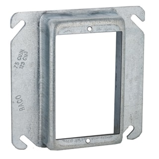 "Raco 00774 4"" Square Raised Single Device Cover"