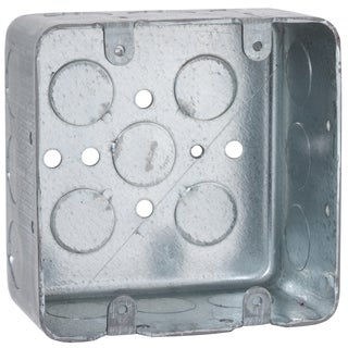 """Raco 00680 4"""" Square Two Device Switch Box"""